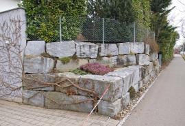 Blocksteinmauer Gartenbau