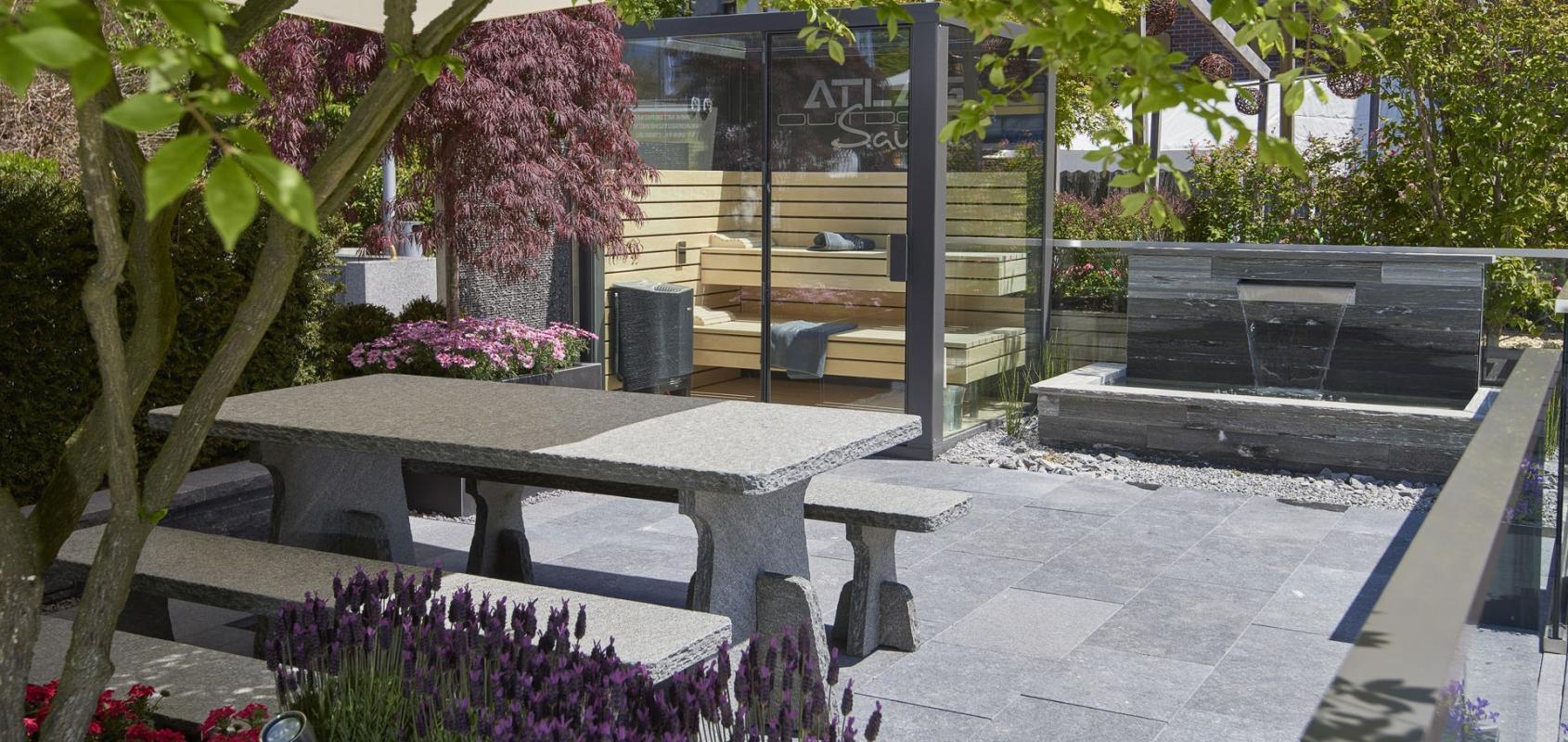 Ein kleiner <span>Wohlfühl-Garten</span> mit Sauna