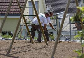 Spielplatz bauen